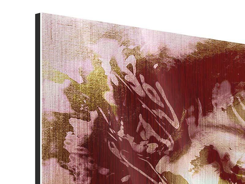 Metallic-Bild Panorama Romantisches Portrait einer Schönheit