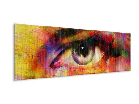 Metallic-Bild Panorama Das Auge