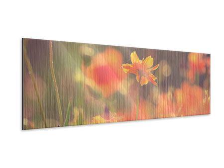 Metallic-Bild Panorama Blütenpracht