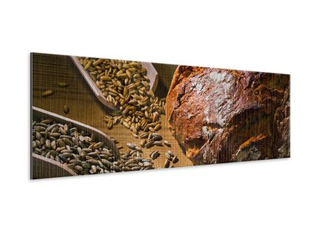 Metallic-Bild Panorama Das Brot