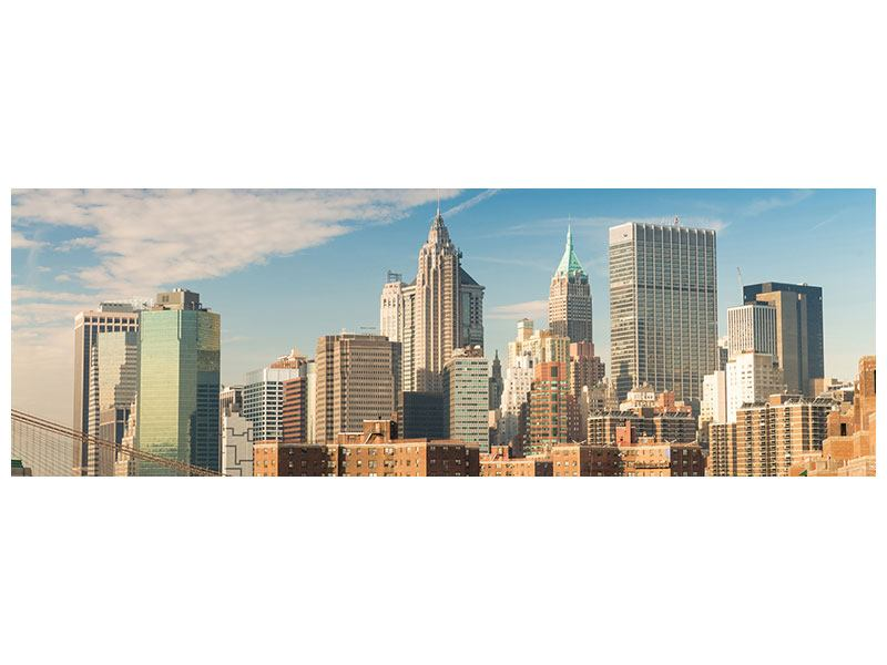 Metallic-Bild Panorama Skyline New York