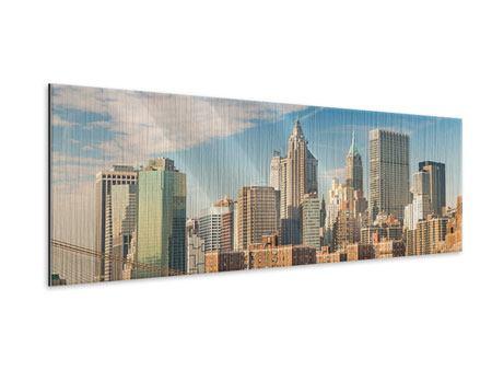Metallic-Bild Panorama Skyline New York