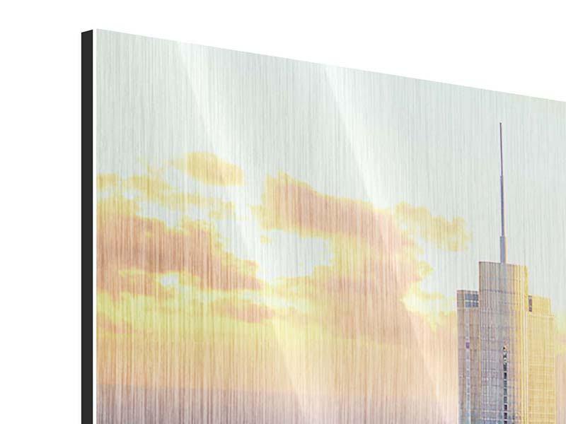 Metallic-Bild Panorama Skyline Chicago