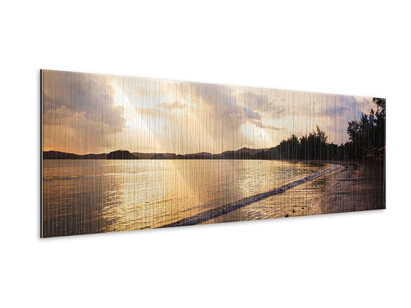 Metallic-Bild Panorama Das Ufer