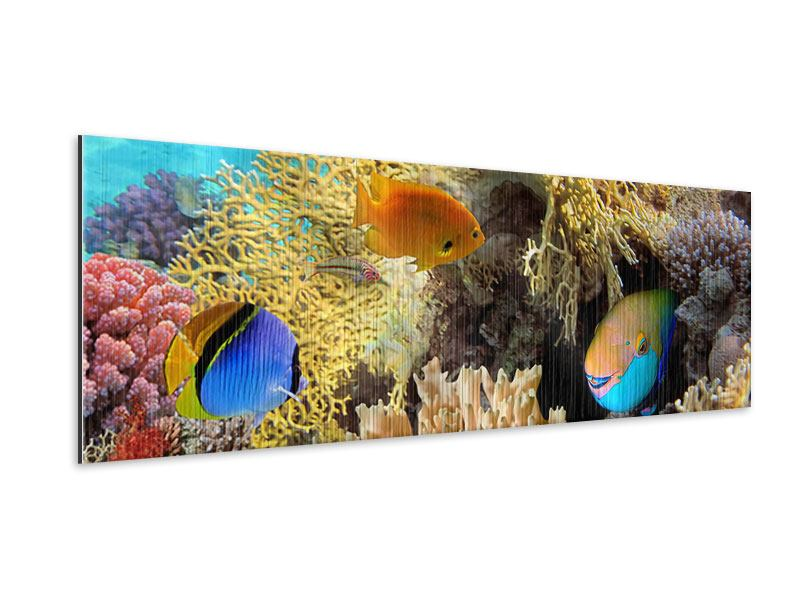 Metallic-Bild Panorama Fischreichtum