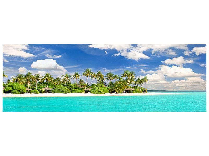 Metallic-Bild Panorama Meine Insel