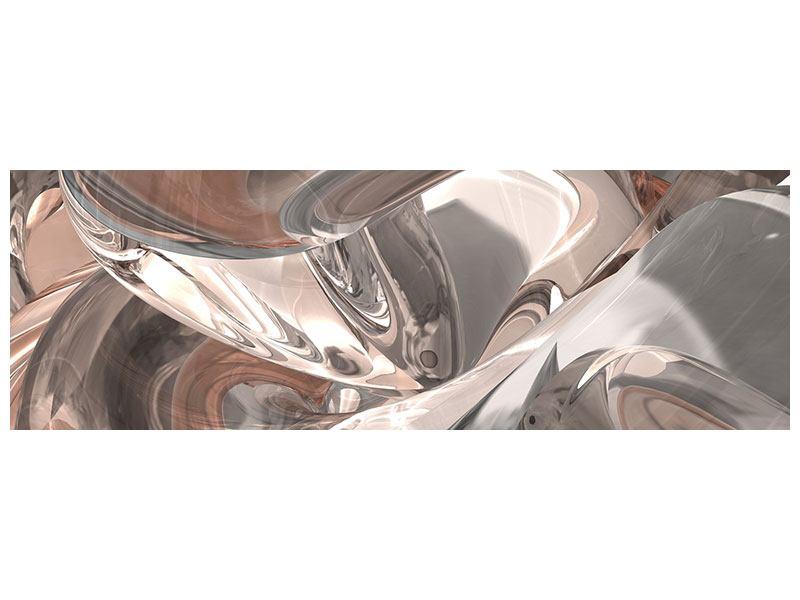 Metallic-Bild Panorama Abstraktes Glasfliessen