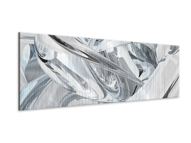 Metallic-Bild Panorama Abstrakte Glasbahnen