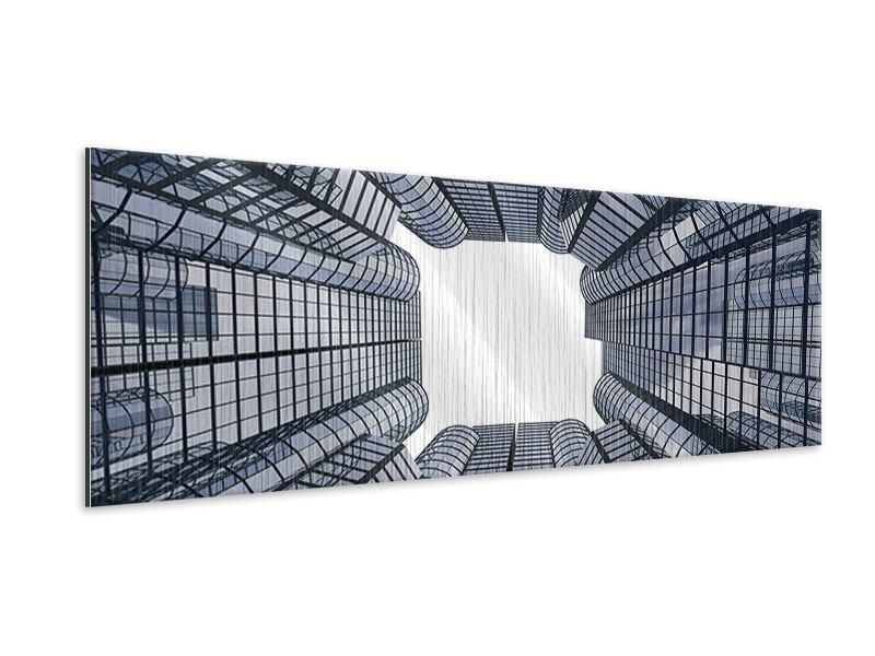 Metallic-Bild Panorama Besondere Perspektive