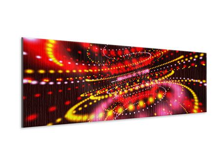 Metallic-Bild Panorama Abstraktes Lichtspiel