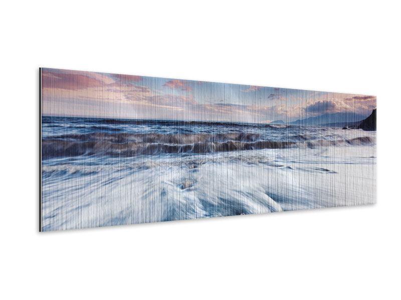 Metallic-Bild Panorama Ort der Sehnsucht