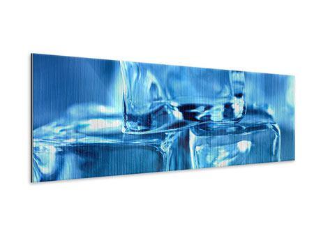 Metallic-Bild Panorama Eiswürfel XXL