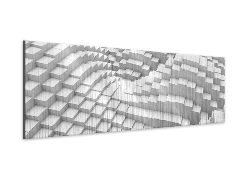 Metallic-Bild Panorama 3D-Elemente