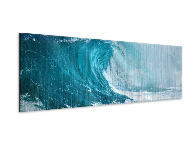 Metallic-Bild Panorama Die perfekte Welle