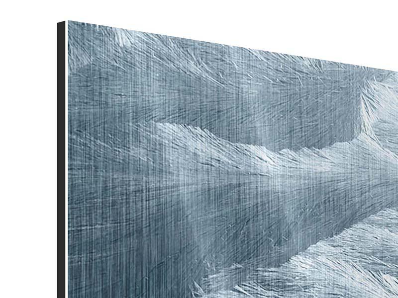 Metallic-Bild Panorama Eis