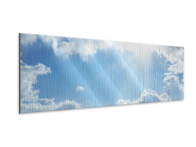 Metallic-Bild Panorama Himmelshoffnung