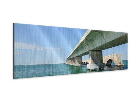Metallic-Bild Panorama Seven Mile Bridge