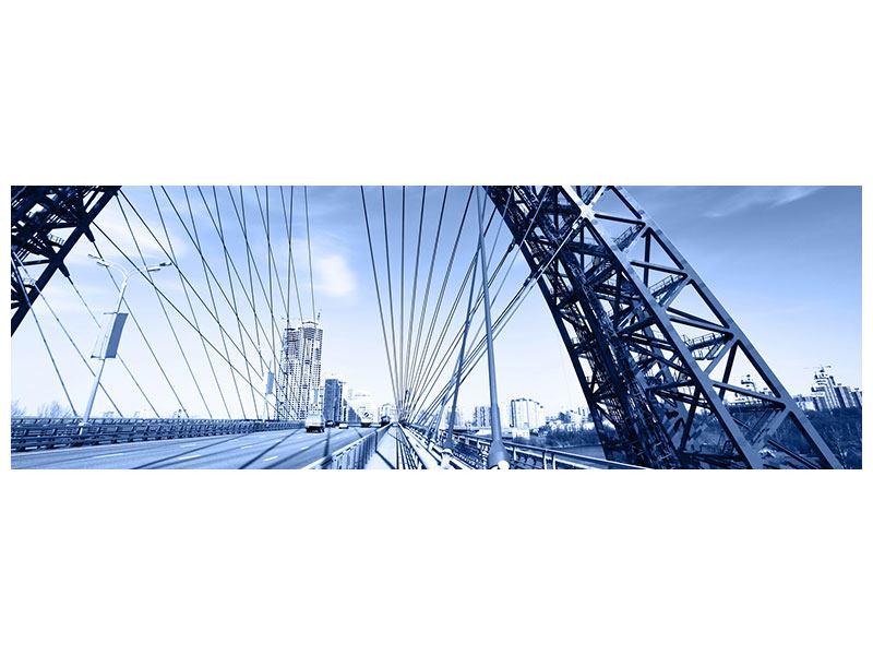 Metallic-Bild Panorama Schiwopisny-Brücke