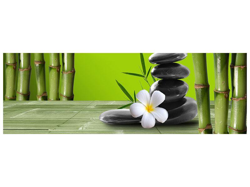 Metallic-Bild Panorama Der Bambus
