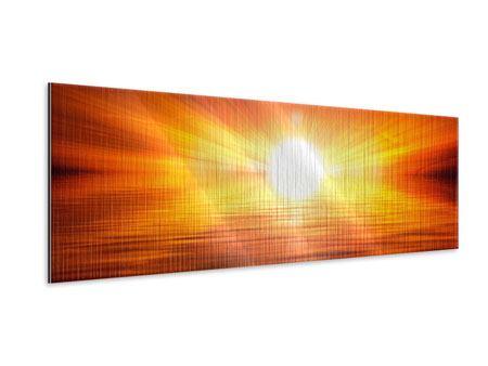 Metallic-Bild Panorama Glühender Sonnenuntergang