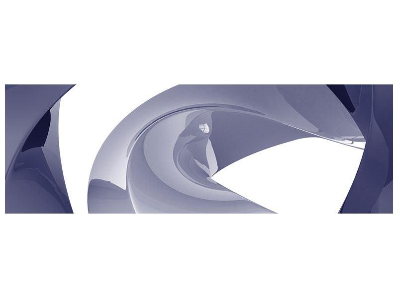 Metallic-Bild Panorama Abstrakte Schwingungen