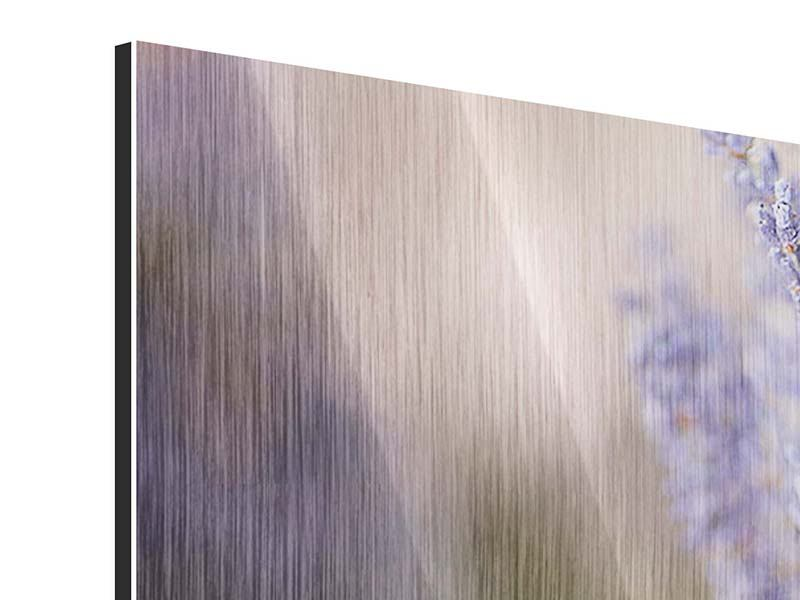 Metallic-Bild Panorama Lavendel XXL