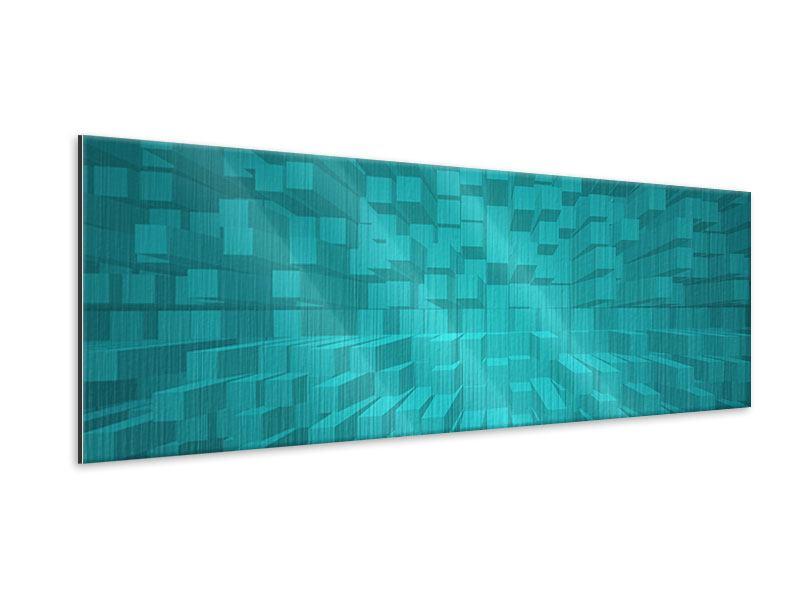 Metallic-Bild Panorama 3D-Kubusse