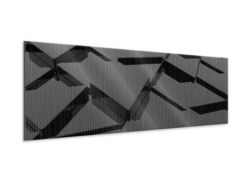 Metallic-Bild Panorama 3D-Dreiecksflächen