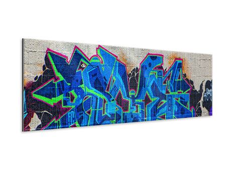 Metallic-Bild Panorama Graffiti NYC
