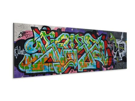 Metallic-Bild Panorama Graffiti in New York