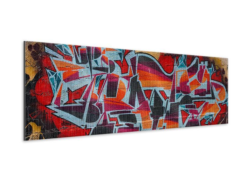 Metallic-Bild Panorama New York Graffiti