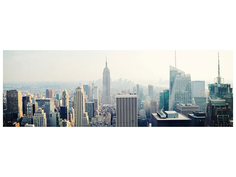 Metallic-Bild Panorama NYC