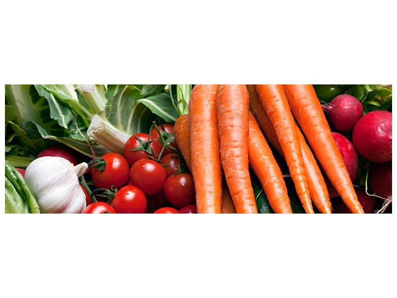 Metallic-Bild Panorama Gemüse