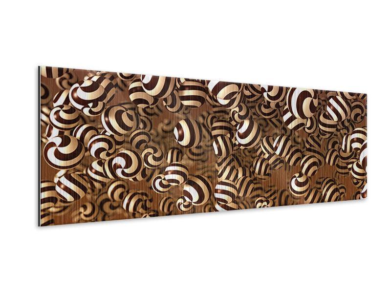 Metallic-Bild Panorama Schokoladen-Bonbons