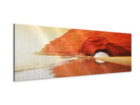 Metallic-Bild Panorama Wasserspiegelung