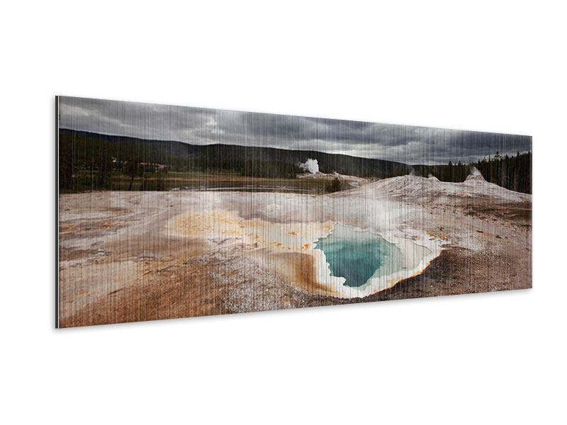 Metallic-Bild Panorama Vulkan