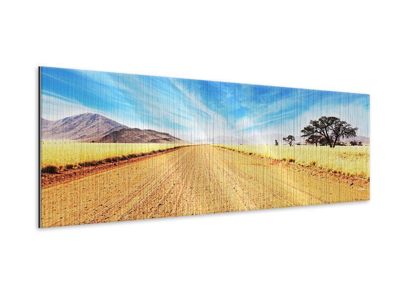 Metallic-Bild Panorama Eine Landschaft in Afrika