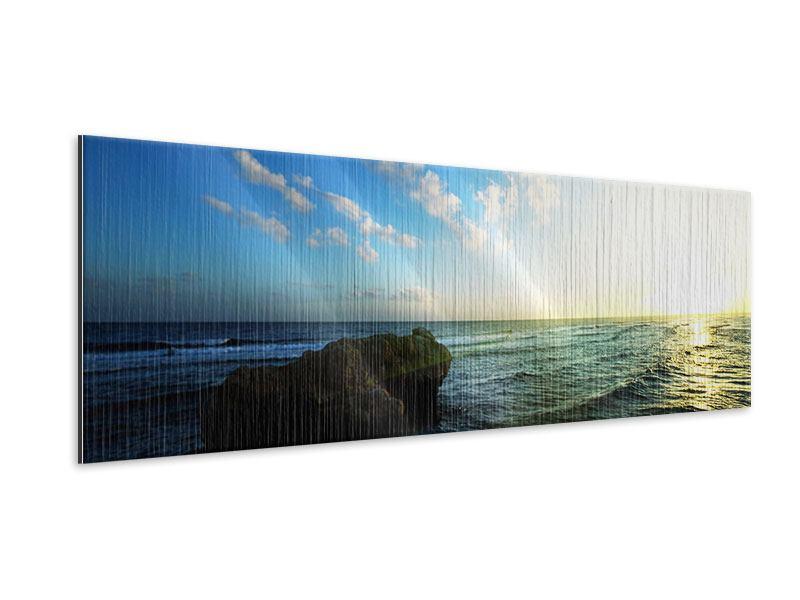 Metallic-Bild Panorama Die See