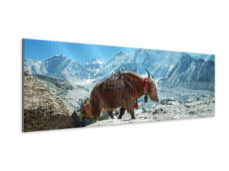 Metallic-Bild Panorama Das Himalaya-Gebirge