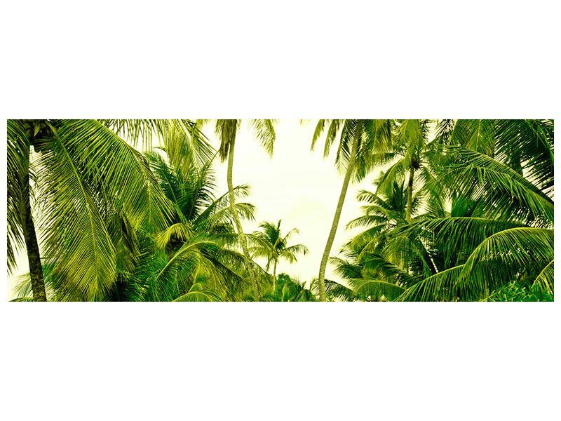 Metallic-Bild Panorama Reif für die Insel