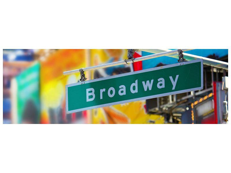 Metallic-Bild Panorama Broadway
