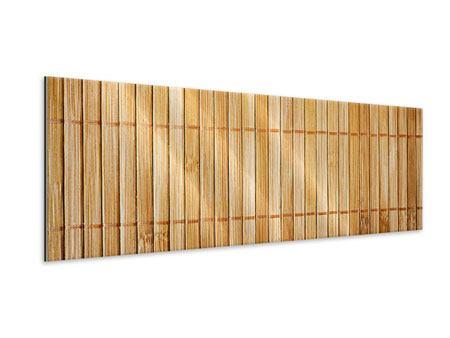 Metallic-Bild Panorama Bambusrohre