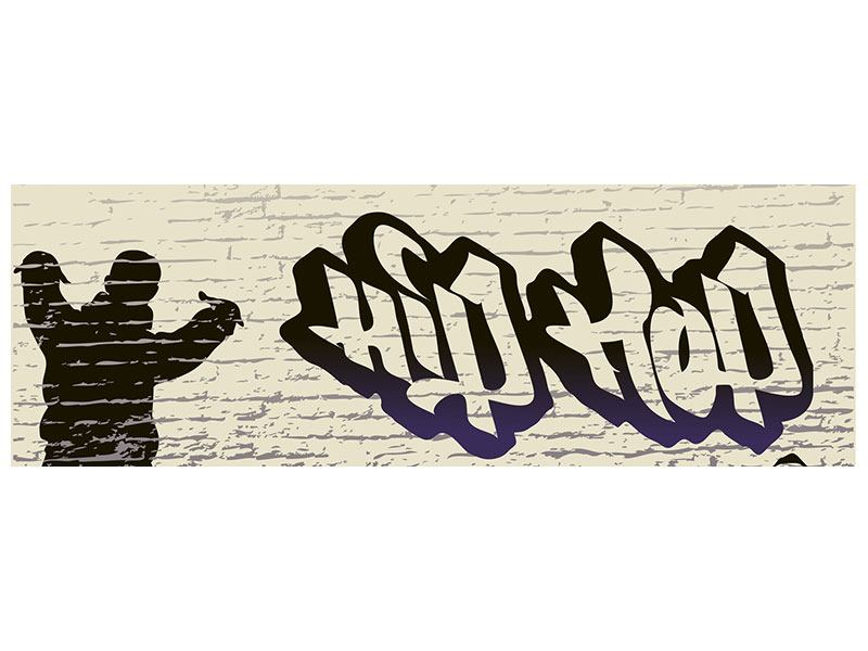 Metallic-Bild Panorama Graffiti Hip Hop