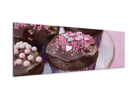 Metallic-Bild Panorama Muffins