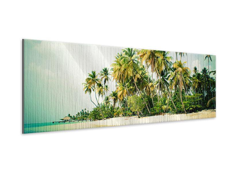 Metallic-Bild Panorama Tobago Cays