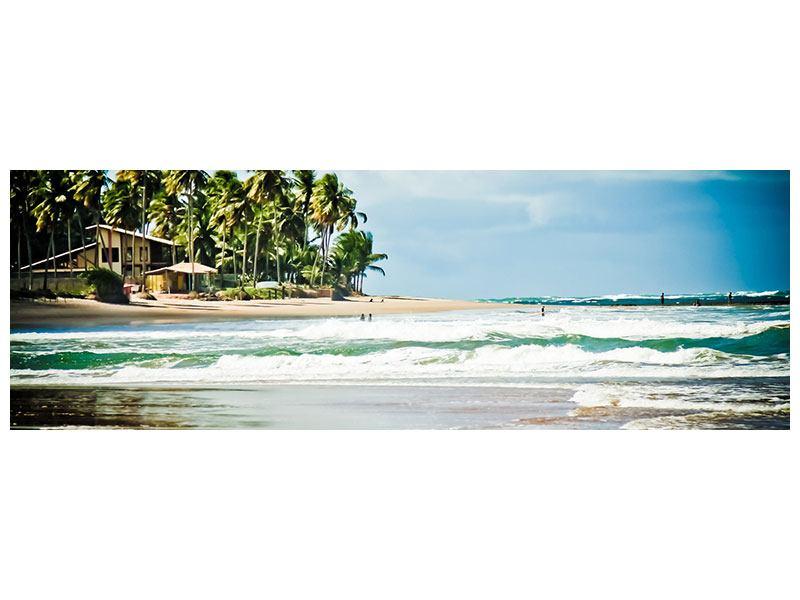 Metallic-Bild Panorama The Beach