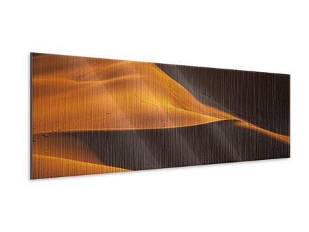 Metallic-Bild Panorama Wüstensand