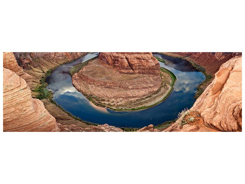 Metallic-Bild Panorama Horseshoe Bend