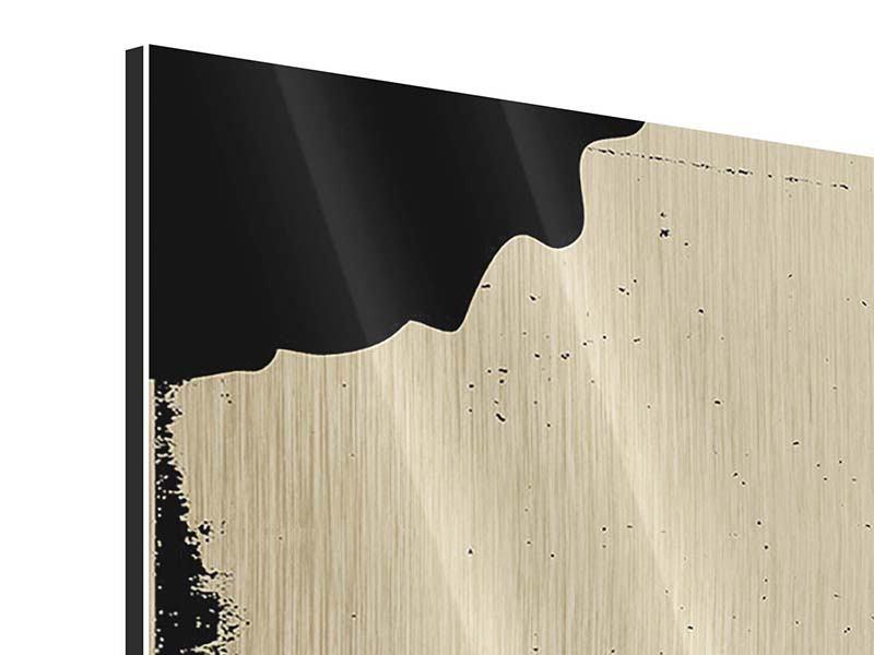 Metallic-Bild Panorama Frauenportrait im Grungestil