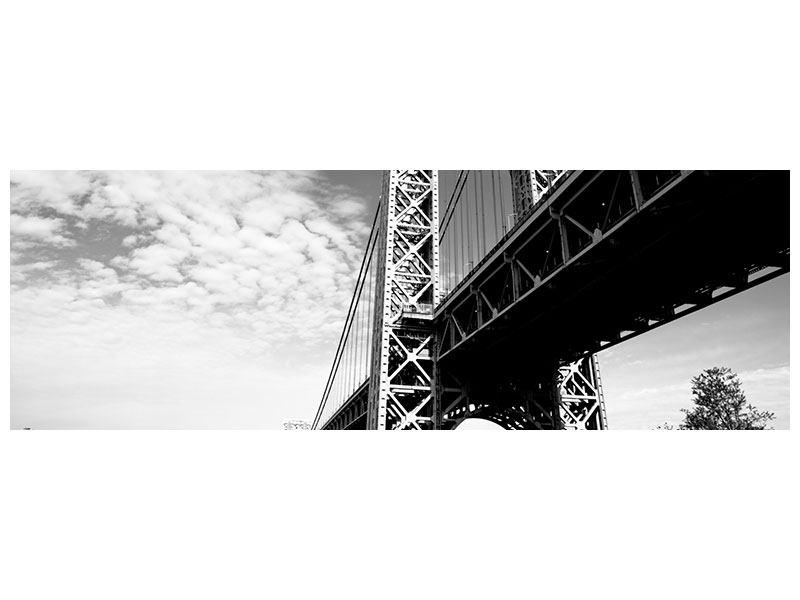 Metallic-Bild Panorama Georg-Washington-Bridge